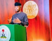 Osinbajo: FG prioritising investments in technology to transform food systems