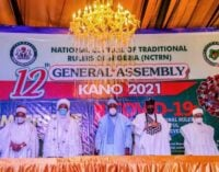 Traditional rulers to politicians: Have confidence in us… we'll help stabilise Nigeria