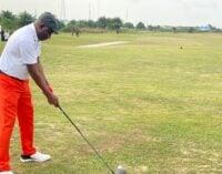 PHOTOS: Jonathan tees off at Bayelsa golf tournament