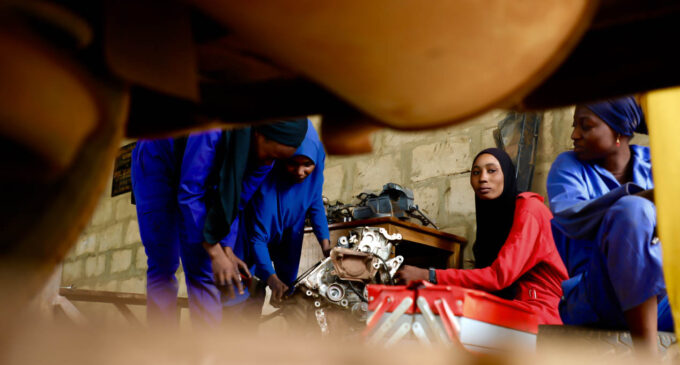Inside the all-female mechanic workshop in Sokoto where undergraduates are working part-time
