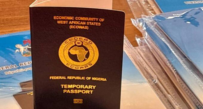 PHOTOS: FG launches temporary passport for diaspora Nigerians