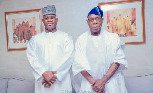 Yahaya Bello '2023 posters' surface online after meeting with Obasanjo