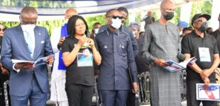 PHOTOS: Sanwo-Olu, Gbaja, Ighodalo pay last respect to Odumakin as burial rites begin