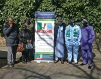 VIDEO: 'We'll continue to support you' — UK APC members show solidarity for Buhari