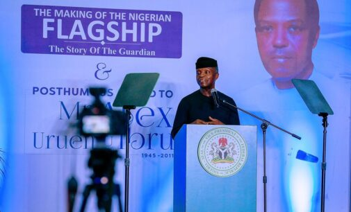 Journalists must be sensitive in their reporting, says Osinbajo
