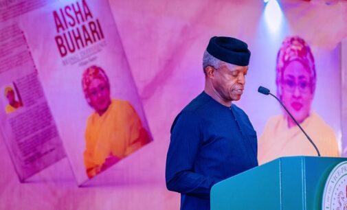 PHOTOS: Osinbajo, Tinubu attend Aisha Buhari's book launch