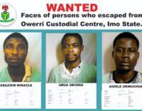 NCS releases names, pictures of inmates who escaped from Imo prison