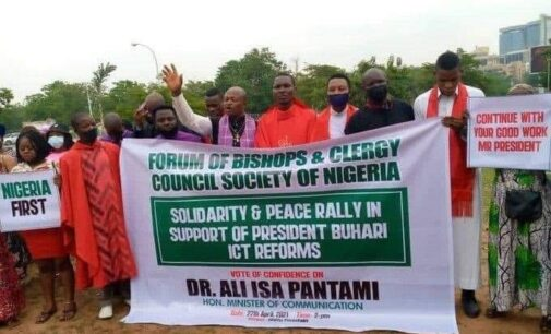 TRENDING: 'Forum of bishops' holds solidarity rally for Pantami