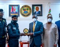 PHOTOS: Sanwo-Olu honours police officer assaulted by traffic offender
