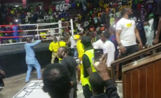 VIDEO: Chaos as Team Ogun disrupts boxing event over alleged referee bias