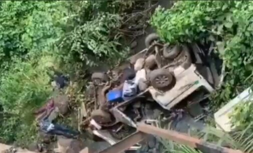 Many feared dead as 18-seater bus plunges into Ondo river