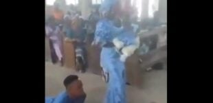 VIDEO: Man with disability, wife show off dance moves during baby dedication
