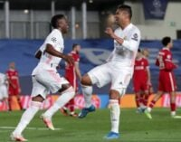UCL results: Vinicius brace helps Real Madrid overpower Liverpool