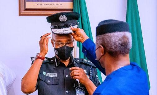 Osinbajo decorates acting IGP with new rank