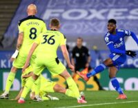 Iheanacho scores as Leicester lose at home to Newcastle