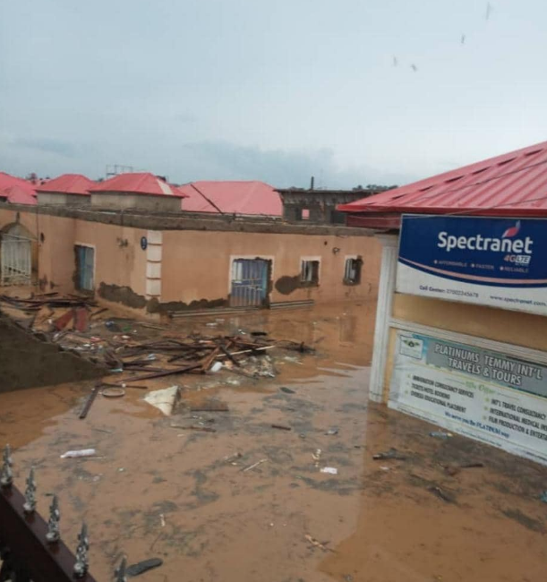 Igwe's office complex overrun by flooding on August 26, 2020