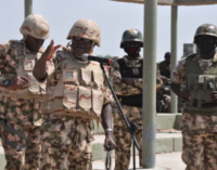 Army chief visits troops, asks them to 'destroy remnants of Boko Haram'