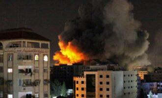 Israeli airstrike destroys building housing media organisations in Gaza