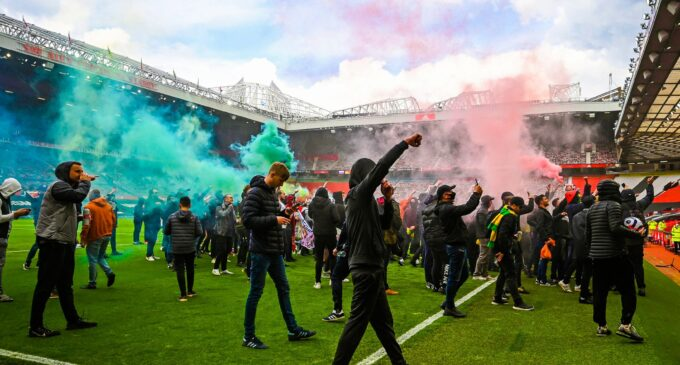 Man United, Liverpool clash postponed after mass protest at Old Trafford