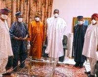 PHOTOS: Tinubu, Akande visit Buhari over Kaduna air crash