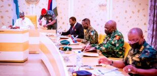 Buhari meets service chiefs over insecurity — third time in 12 days