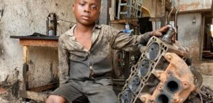 Meet the six-year-old Nigerian who juggles school with mechanic work