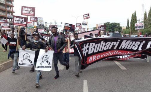 Shi'ites team up with June 12 protesters in Abuja to demand 'Buhari must go'