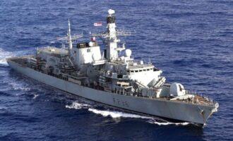 Russian fighter jet fire at British warship — but UK says it's not true