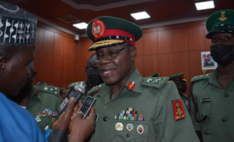 Army chief visits Imo, asks troops to redouble effort in fighting IPOB