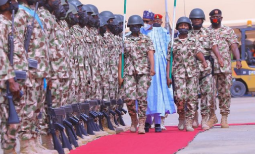 Buhari to military: Don't give Nigeria's enemies breathing space
