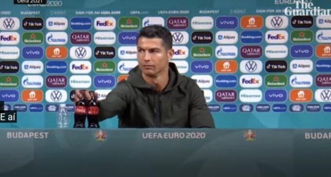 Cristiano Ronaldo gesture wipes '$4bn' off Coca-Cola's market value