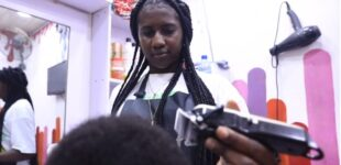 I worked as strip club waitress due to hardship, says female barber