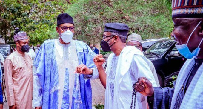 PHOTOS: Gbajabiamila leads lawmakers to visit Buhari in Daura