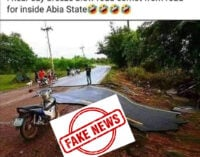 FACT CHECK: Viral image of 'dilapidated road in Abia' not from Nigeria