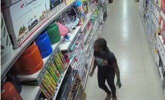 VIDEO: CCTV footage shows moment nine-year-old girl set Abuja Ebeano supermarket on fire