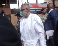 PHOTOS: Akeredolu visits Synagogue church as TB Joshua is laid to rest