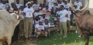 Sallah: Buhari donates cows, 20 bags of rice to NYSC members in Daura