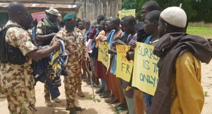 'We're pampering insurgents' — reactions to photos of army donating food items to 'repentant' Boko Haram leaders