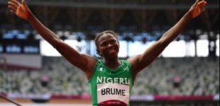 Ese Brume wins Nigeria's first medal at Tokyo Olympics