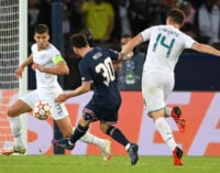 UCL results: Messi scores in PSG win over Man City as Real Madrid suffer home loss