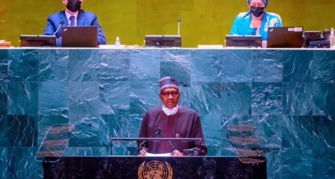 WORD FOR WORD: Buhari speaks on debt relief, illicit arms, vaccine inequity at UNGA