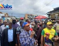 Sit-at-home order: Obiano visits markets, banks after directive on resumption of businesses (photos)