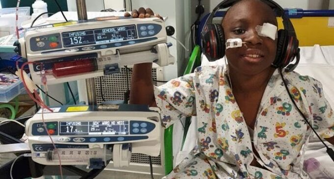 Nigerian boy cancer-free after UK newspaper readers raised £216k for treatment