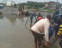 PHOTOS: Canoes to the rescue as Ogun community battles flood