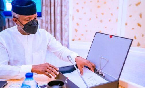 Guinea coup: Osinbajo to represent Buhari at ECOWAS meeting in Ghana
