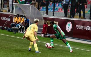 Hard tackles, shots at 2021 Aisha Buhari cup final
