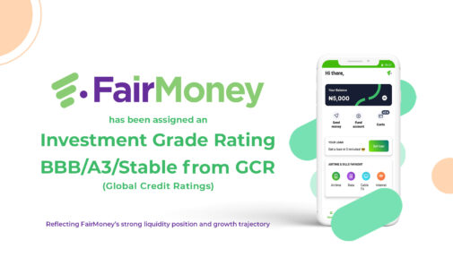 MyCredit Investments Limited (Fairmoney) receives investment grade ratings from GCR (Global Credit Ratings)