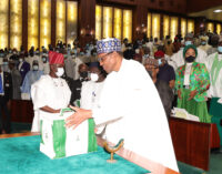Buhari presents N16.39trn 2022 budget of 'economic growth' to n'assembly
