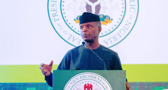 'The exchange rate is artificially low' — Osinbajo asks CBN to bow to market forces