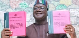 Ortom signs amended law to allow volunteer guards bear arms